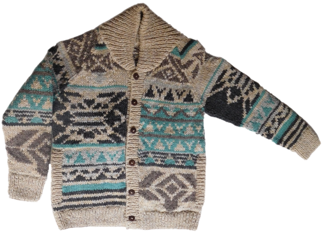 Handknitted Multi Colored Sweater - Rochak Handknit