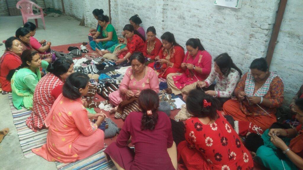 Handknitting Training by Rukmani Devi Shrestha - Rochak Handknit