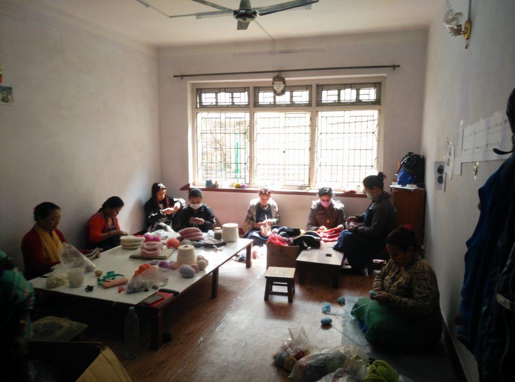 Women at work - Rochak Handknit Craft