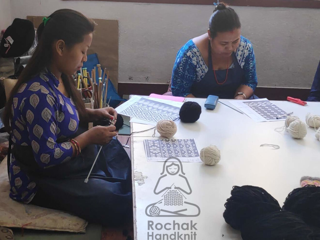 Preparing Prototype for the sample - Rochak Handknit