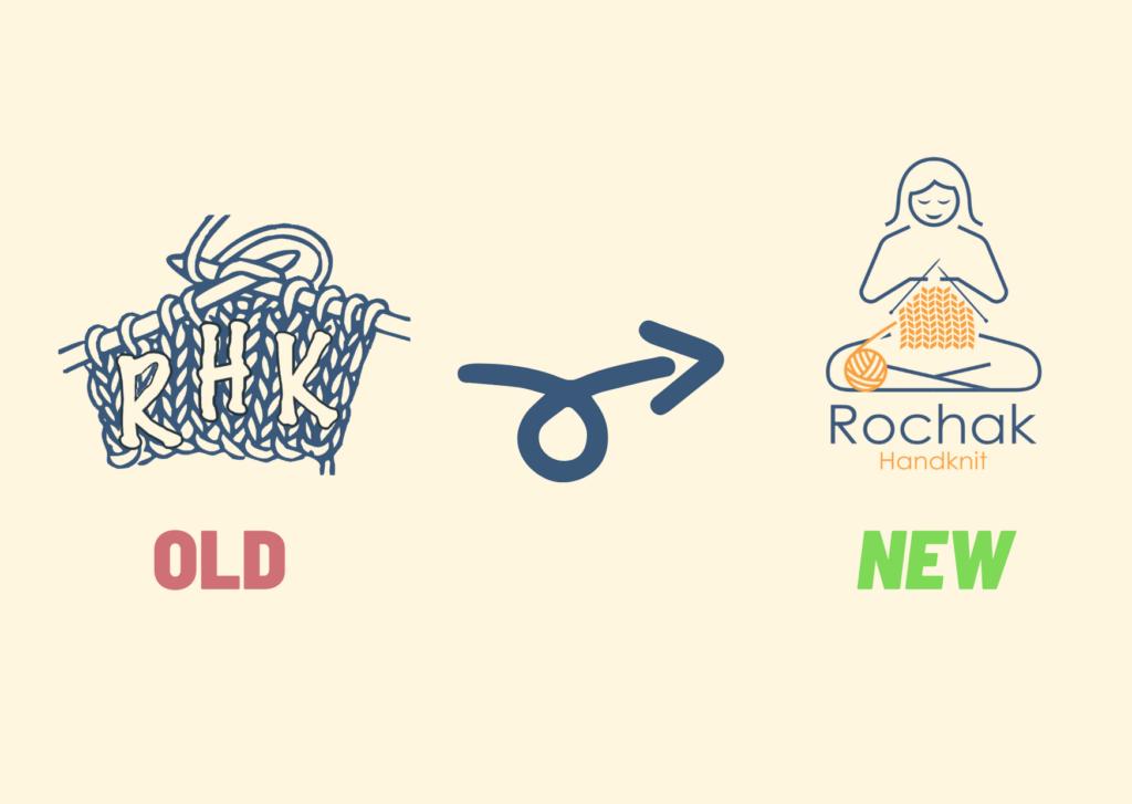 Image showing change of Logo of Rochak handknit