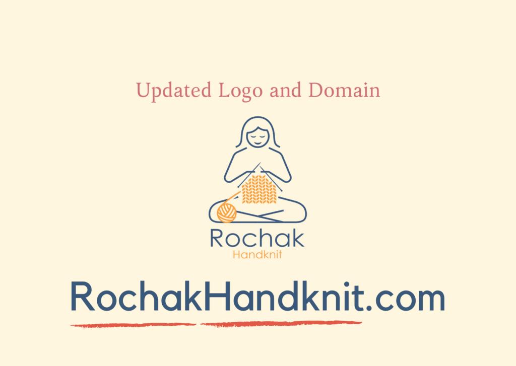 Updated logo & domain of Rochak handknit