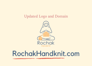 Updated logo & domain of Rochak handknit